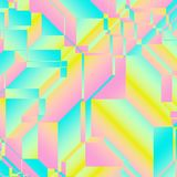 Geometric Fashion Print Background. An artistic pink and blue geometric textile background Royalty Free Illustration