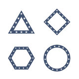 Geometric Figures with Star Pattern Vector. Illustration Royalty Free Stock Images