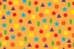 Geometric figures vector texture. Colorful geometric shapes seamless pattern Royalty Free Stock Photos