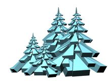 Geometric fir trees Royalty Free Stock Photos