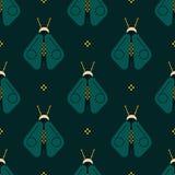 Geometric firefly geometric pattern. Minimal geometric series Royalty Free Stock Photos