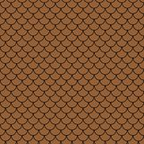 Geometric fish scales chinese seamless pattern. Wavy roof tile background for design. Modern repeating stylish texture. Flat patte. Geometric fish scales chinese Stock Photography