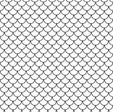 Geometric Fish Scales Chinese Seamless Pattern. Wavy Roof Tile Background For Design. Modern Repeating Stylish Texture Royalty Free Stock Photo