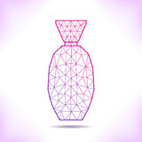 Geometric flacon. For calendar, catalog, card or other Stock Images
