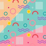 Geometric Flat Pattern. stock illustration