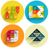 Geometric flat templates icon set Stock Photos