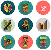Geometric flat templates icon set Stock Image