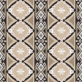 Geometric floral abstract seamless pattern background Royalty Free Stock Photography