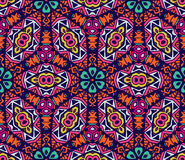 Geometric floral design pattern. Abstract festive colorful floral vector ethnic tribal pattern. geometric floral design Stock Photo