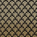 Geometric Gatsby Art Deco Pattern Background Design. Geometric Floral Gatsby Art Deco Pattern Background Design in Black and Gold vector illustration