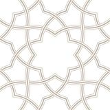 Geometric floral light grey background, Arabic pattern, Royalty Free Stock Images