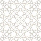 Geometric floral light grey background, Arabic pattern, stock illustration