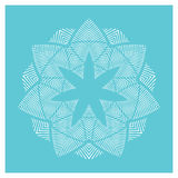 Geometric floral medallion design Royalty Free Stock Photography