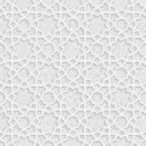Geometric floral pattern with Light Grey Grunge Background Royalty Free Stock Photo