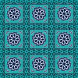 Geometric with floral pattern Stock Photography