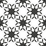 Geometric floral seamless background Royalty Free Stock Images