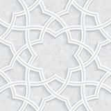 Geometric floral Vector pattern stock illustration