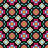 Geometric flower abstract colorful pattern on Royalty Free Stock Photo