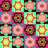 Geometric flower abstract colorful pattern Royalty Free Stock Image