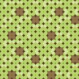 Geometric flower background. Geometric retro flower seamless background Vector Illustration