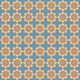 Geometric flower ethnic pattern. Soft colors Royalty Free Stock Images