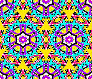 Geometric Flower Fractal Pattern Stock Image