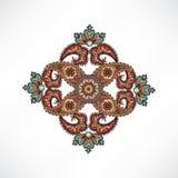 Geometric flower Oriental mandala Floral ornament. Stock Photo