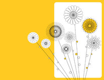 Geometric flowers. Vector design with geometric flowers royalty free illustration