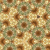Abstract geometric flowers blur background card in beige color stock illustration