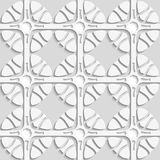 Geometric flowers on gray seamless Royalty Free Stock Photo