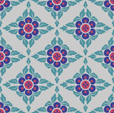 Geometric Flowers Pattern. Seamless repeating pattern. Colorful floral motif Royalty Free Stock Photography