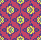 Geometric Flowers Pattern. Seamless repeating pattern. Colorful floral motif Stock Photos