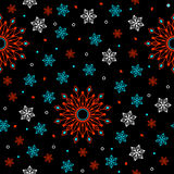 Geometric flowers seamless pattern. Stock Images
