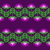 Geometric flowers. Seamless pattern of stylized geometric flowers Royalty Free Stock Photography