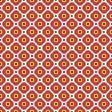 Geometric flowers seamless pattern. Royalty Free Stock Image