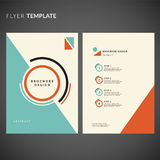 Geometric flyer design. Flyer template. Stock Image