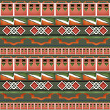 Geometric folk abstract vintage seamless pattern Royalty Free Stock Photography