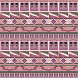 Geometric folk abstract vintage seamless pattern Royalty Free Stock Image