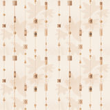 Geometric folk beige vintage seamless pattern background Stock Photos