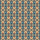 Geometric folklore ornament. Ethnic vector texture. Seamless striped pattern in vintage style. Coloful illustration vector illustration