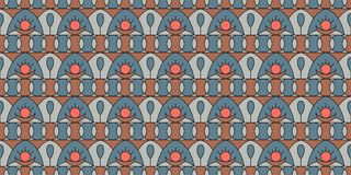Geometric folklore ornament. Seamless pattern in vintage style. The illustration is made in fashionable colors of 2019 vector illustration