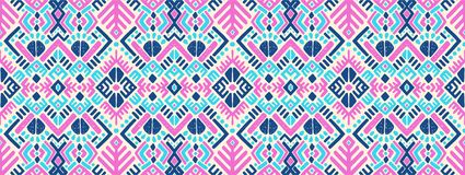 Geometric folklore ornament. Tribal ethnic vector texture. Seamless striped pattern in Aztec style. Ikat geometric folklore ornament. Tribal ethnic vector vector illustration