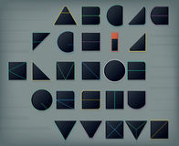 Geometric font Stock Photo