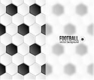 Geometric football hexagonal tiles background with Royalty Free Stock Photo