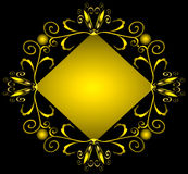 Geometric forged gold(en) ornament Royalty Free Stock Photography
