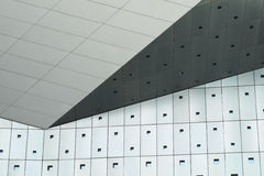Geometric Forms of Exterior Walls stock images