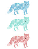 Geometric Foxes. A set of geometric foxes Royalty Free Stock Photos