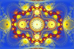 Geometric fractal shape can illustrate daydreaming imagination psychedelic space dreams magic nuclear explosion. Geometric fractal shape can illustrate Royalty Free Stock Photography