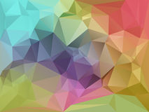 Geometric Fragments Background. Abstract Color Triangles Background Illustration Stock Photography