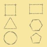 Geometric Frames Royalty Free Stock Photo